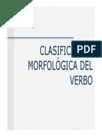 clasificacin morfolgica del verbo