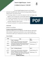 P6 Syllabus 2014 - 2015 - Semester 2
