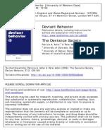 Deviant Behavior Volume 27 Issue 2 2006 [Doi 10.1080%2F15330150500468444] Adler, Patricia a.; Adler, Peter -- The Deviance Society