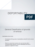 Deportability Grounds