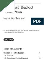 Instruction Manual, Quick Start Bradford Protein Assay, Rev A