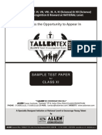 Tallentex Sample Paper