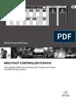 Behringer FCB1010 Manual
