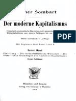 Der Moderne Kapitalismus, Band 1, Erster Halbband