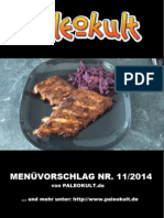 Gratis Paleo Diät Rezepte - Paleokult Menüvorschlag Nr. 2014-11