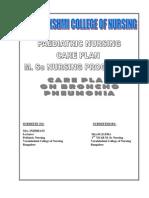 Bronchopneumonia Case Presentation