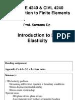 3 d Elasticity