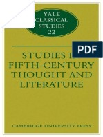 Adam Parry Studies in Fifth Century Thought and Literature Yale Classical Studies No. 22 2009