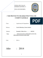 Progamacion e Implemetacion Del Microprocesador Intel 8086