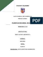 Planificacion Anual Ed Artistica 7vo