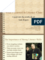 What I Learned in Literacy Class