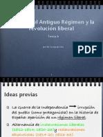 Tema 6 La crisis del Antiguo Régimen y la revolución liberal