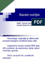 Dietologie Bazele nutritei