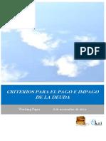 CRITERIOS PARA EL PAGO E IMPAGO DE LA DEUDA
