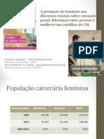 A Produção Do Feminino Nos Discursos Estatais Sobre