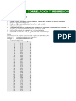 CORRELACION Y REGRESION Ejercicios Propuestos Solución