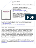 The inequalities in school choice in Spain in accordance to PISA data