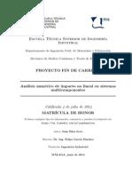 Análisis numérico de impacto no lineal en sistemas multicomponentes, con ANSYS Ls-Dyna (PFC Juan Báez Leva)
