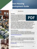 Green Housing Development Guide