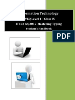 NVEQ SWB IT L1 U3 Mastering Typing