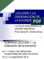 Lección 1. La Ordenación de La Economía