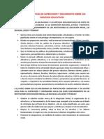 Las Características de Supervision y Seguimiento Sobre Los Procesos Educativos