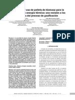 Producción y Uso de Pellets de Biomasa Para