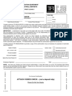 Employee Authorization Agreement for Automatic Payroll Deposits