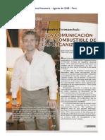 La Comunicación Es El Combustible de Las Organizaciones Revista Economía – Perú