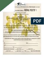 Réservation Soirée RR 2014