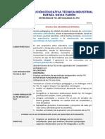 Propuesta Articulación TIC al PEI