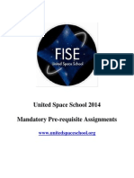 United Space School 2014 Assignments