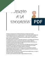 El Derecho a La Educación en La Constitución Nacional y Los Tratados Internacionales