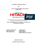 Training & Development Practices in Hitachi