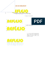 Efecto de Reflejos en Coreldraw