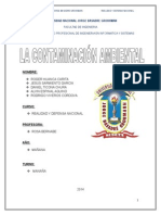 Monografia contaminacion ambiental