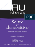 Sandro Chignola-Sobre O Dispositivo. Foucault, Agamben, Deleuze