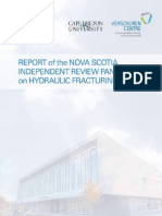 2014 Report of the Nova Scotia Independent Panel on Hydraulic Fracturing(1)