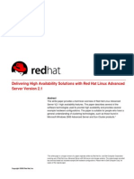Linux - RedHat - Delivering High Availability Solutions With Red Hat Linux Advanced Server 2.1 - Cluster