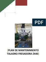 Manual de mantenimiento taladro fresadora china genérica ZX40