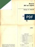 E. Sobrado - Acerca Del Ser Sujeto- Cap 1, 5, 7 y 8