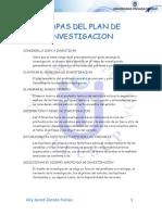 etapas plan de investigacion