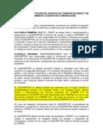 Contrato de Prestación Del Servicio de Acceso a Internet