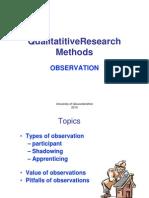 RM Observation