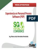 Experiencia en Personal Software Process