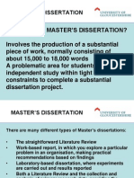 Session 02 - What is a Masters Dissertation BG