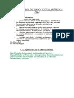 FUNDAMENTOS DE PRODUCCION ARTISTICA  2014.doc