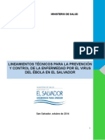 Lineamientos TÃ_cnicos para la Prevención y Control de la Enfermedad por el Virus Èbola en El Salvador[1]