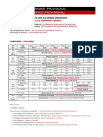 Provisional Programme Programa Provisional