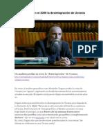 Dugin Predijo en El 2009 La Desintegración de Ucrania Como